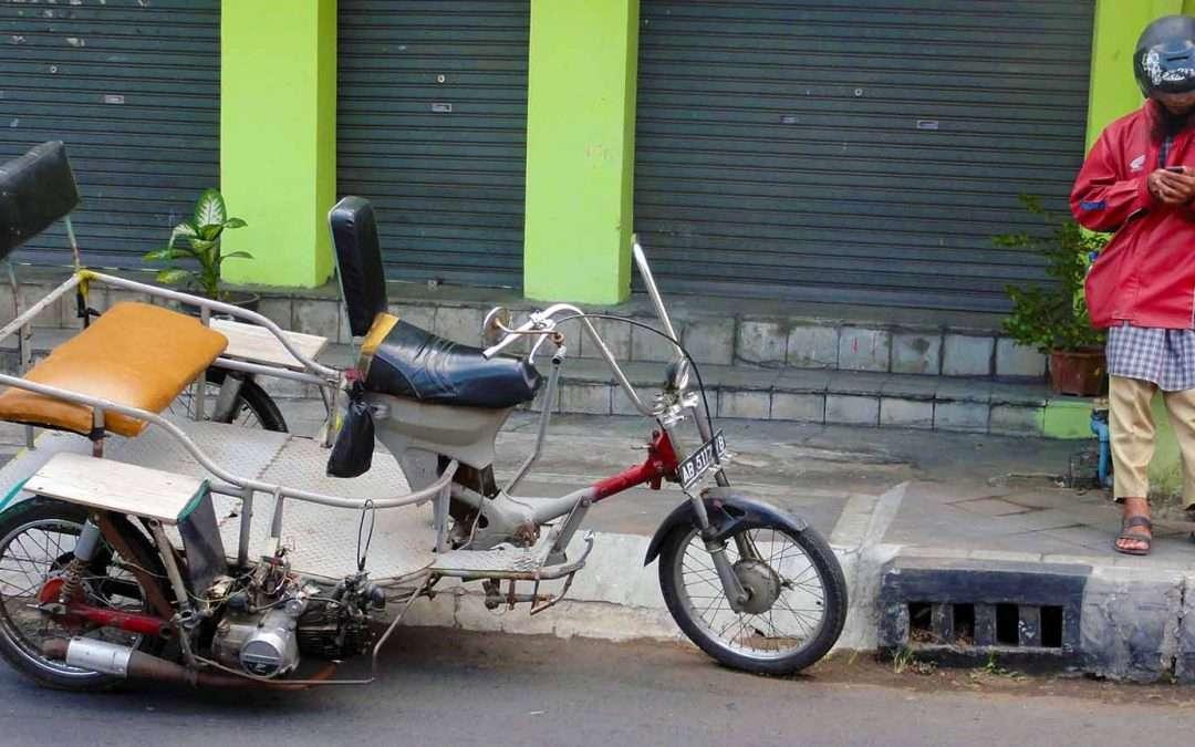 Riding Motorbikes In Asia.